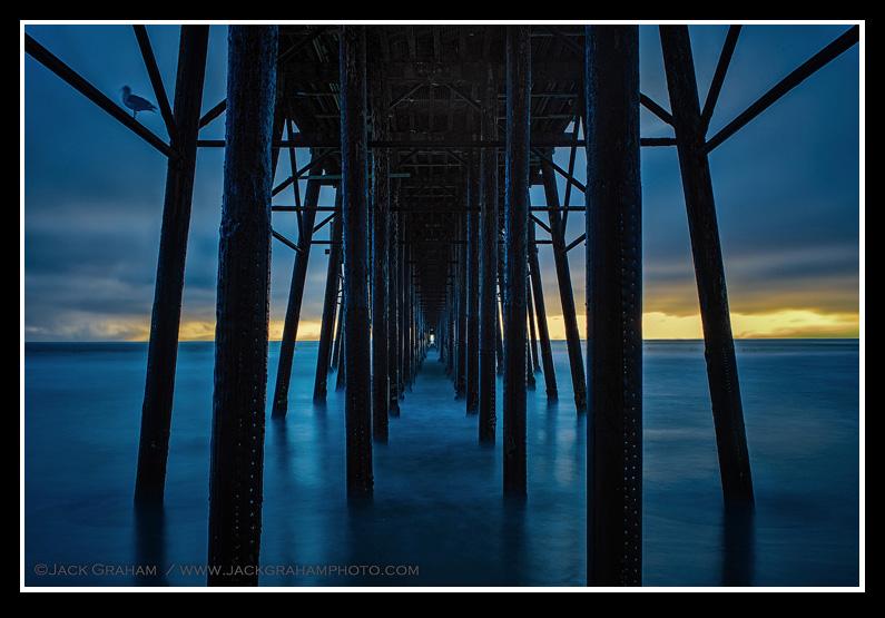 sunset pier near san diego