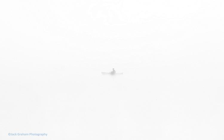 fisherman of trillium lake, oregon