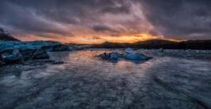 Winter Sunset, Iceland